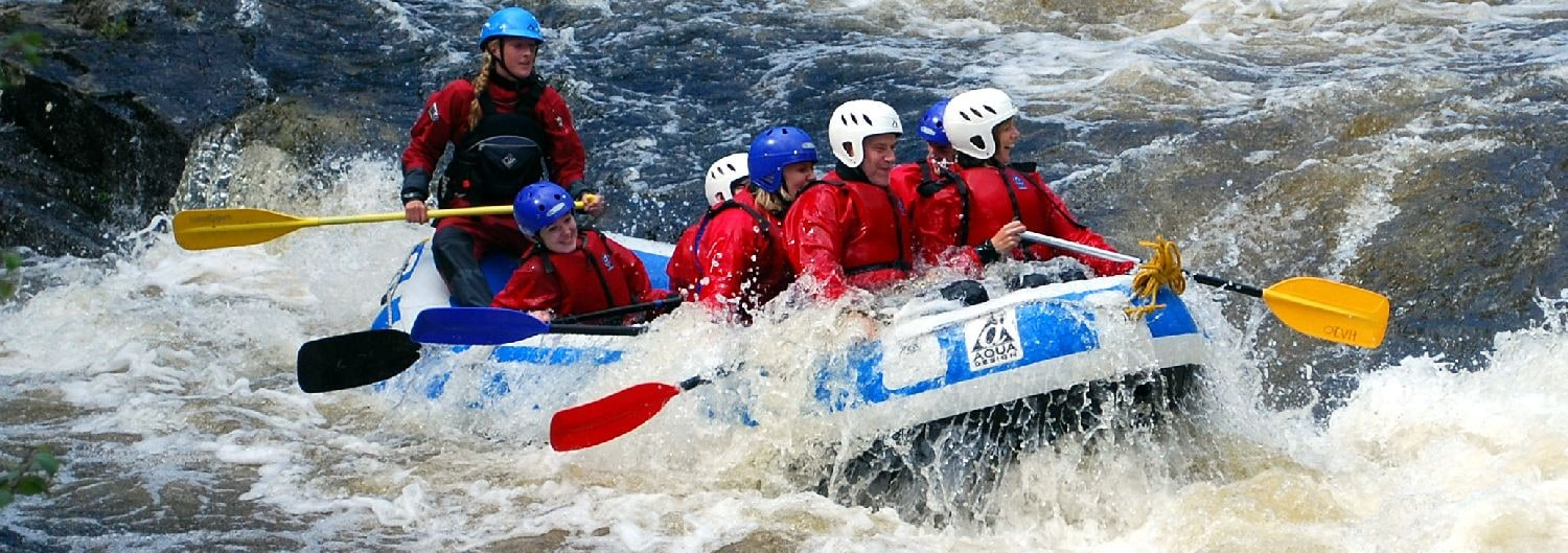 White Water Rafting Scotland, River Garry