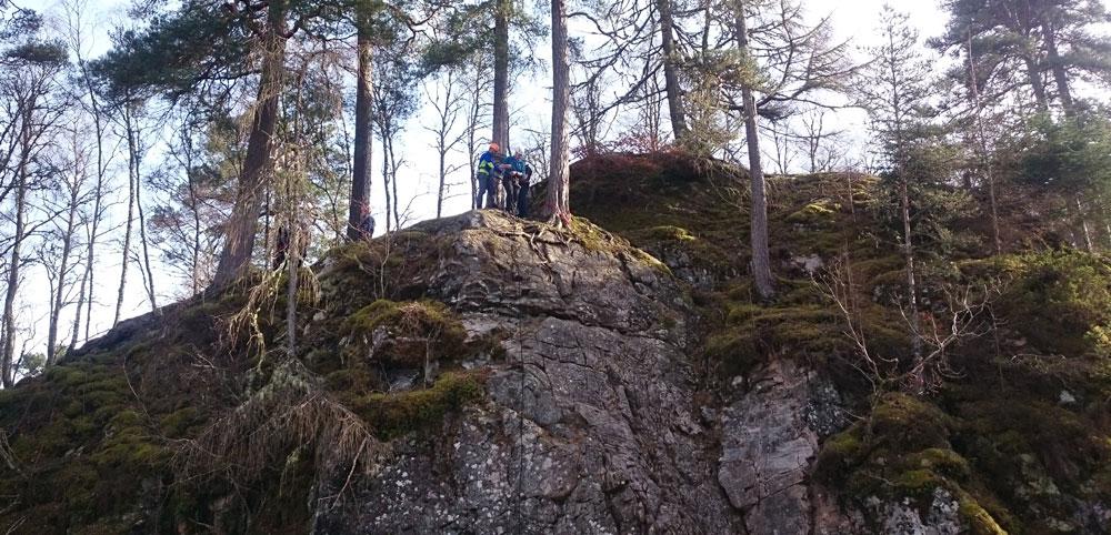 Rock climbing & abseiling at Aberchalder crag.