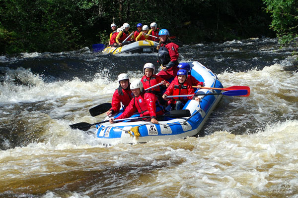 white water rafting river garry