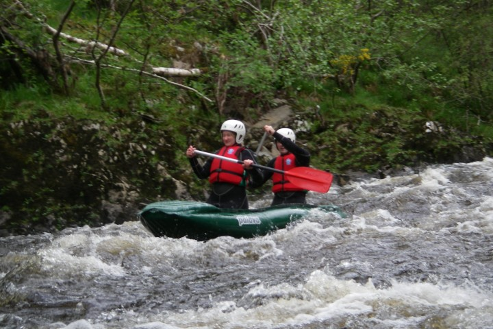 White water funyakking near Fort William & Fort Augustus