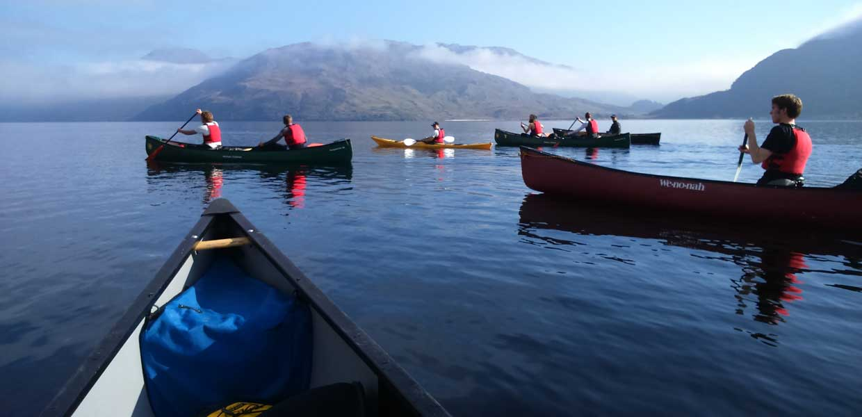 Canoeing in the Highlands ofScotland