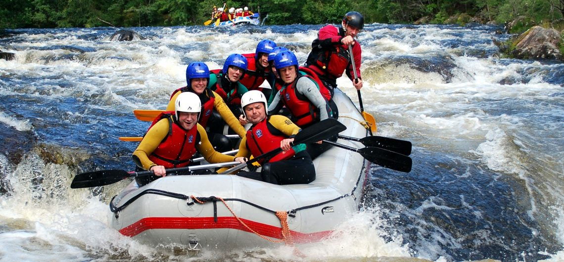 White Water Rafting River Garry Scotland