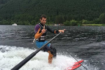 Water ski lesson near Fort William