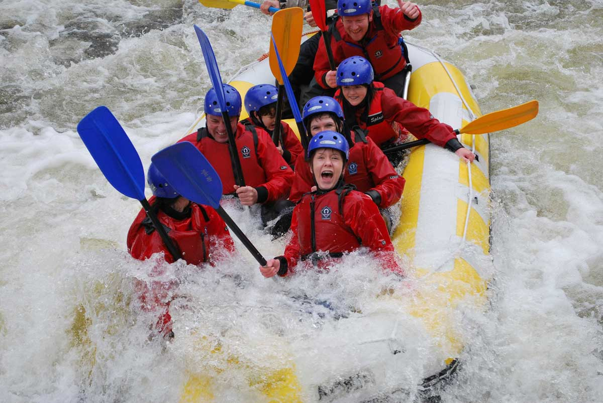 Rafting in Scotland with Active Highs